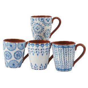 Yasmine Ceramic Coffee Mug Set Of 4