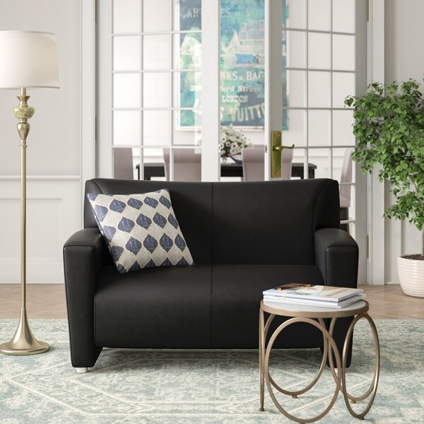 Tribeca Leather Loveseat by OfficeSource
