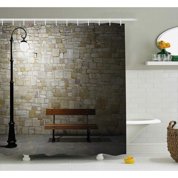 Street Dark Night Street View Shower Curtain by East Urban Home