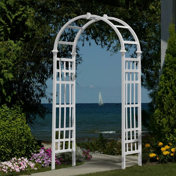 Athens Vinyl Arbor by New England Arbors