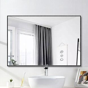 Eline Rectangular Thin Modern And Contemporary Bathroom Mirror