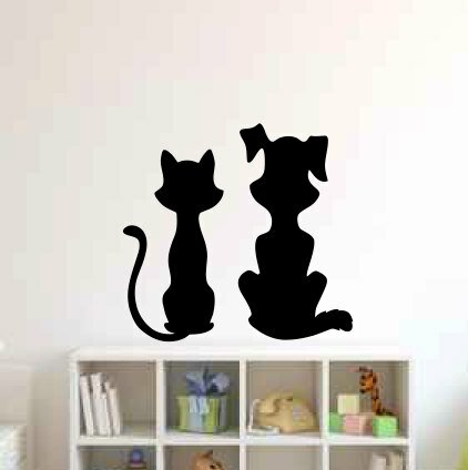 Tamika Cat and Dog Wall Decal by Zoomie Kids