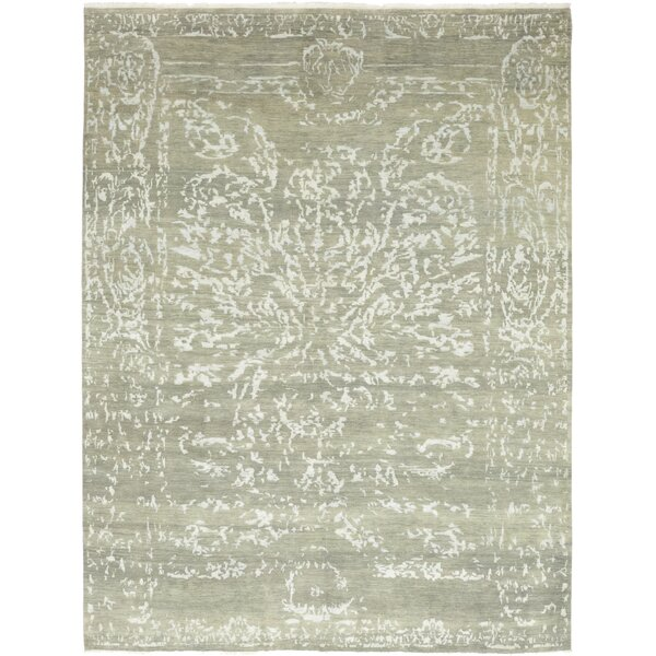 One-of-a-Kind Crumbley Hand-Knotted Wool Gray Indoor Area Rug by Isabelline