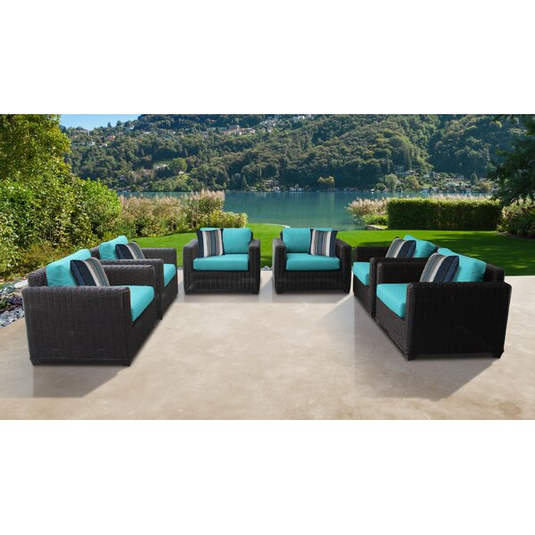 Fairfield Patio Chair with Cushions (Set of 6) by Sol 72 Outdoor