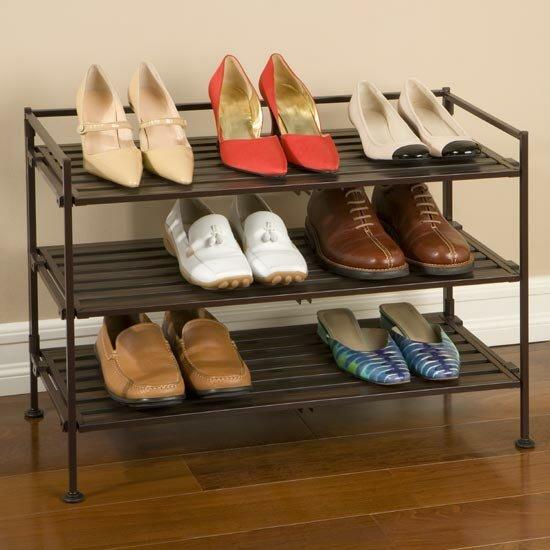 rebrilliant utility 3tier 9 pair stackable shoe rack u0026 reviews wayfair