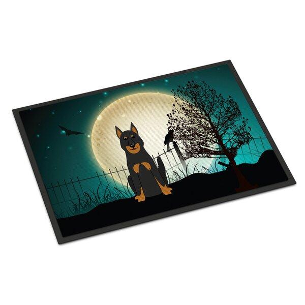 Halloween Scary Beauce Shepherd Dog Doormat by Caroline's Treasures