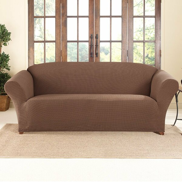 Honeycomb Box Cushion Sofa Slipcover by Sure Fit