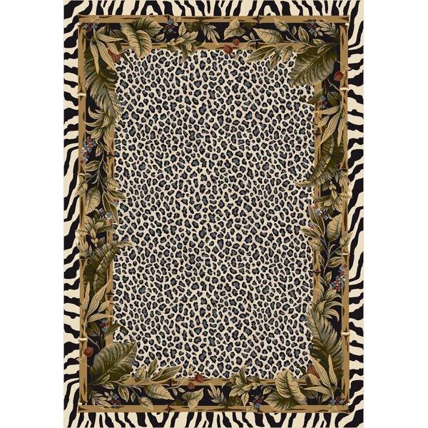 Signature Jungle Safari Snow Leopard Area Rug by Milliken