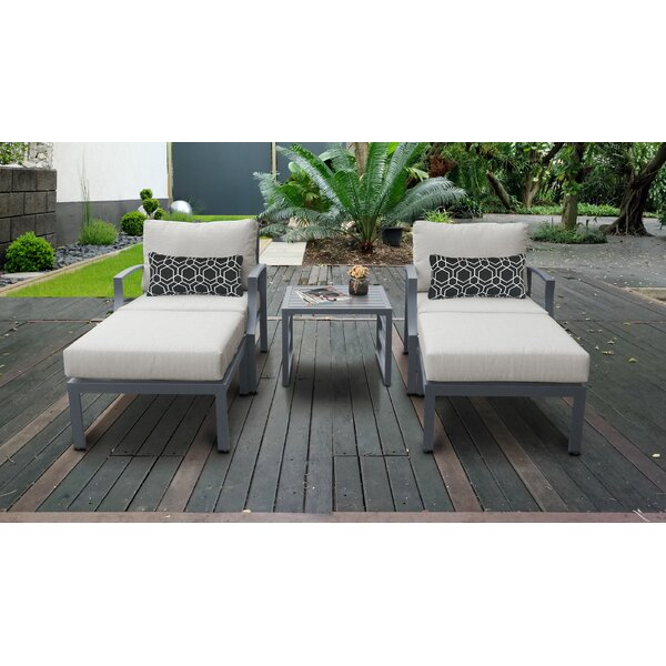 Benner Outdoor Aluminum 5 Piece Sectional Seating Group with Cushion