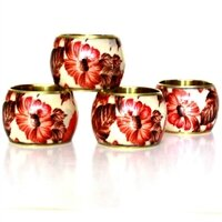 Floral Napkin Ring (Set of 4) by MarktSq