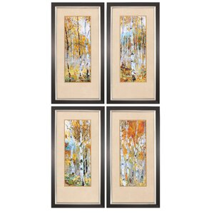 Fall Magic 4 Piece Framed Painting Print Set by Propac Images