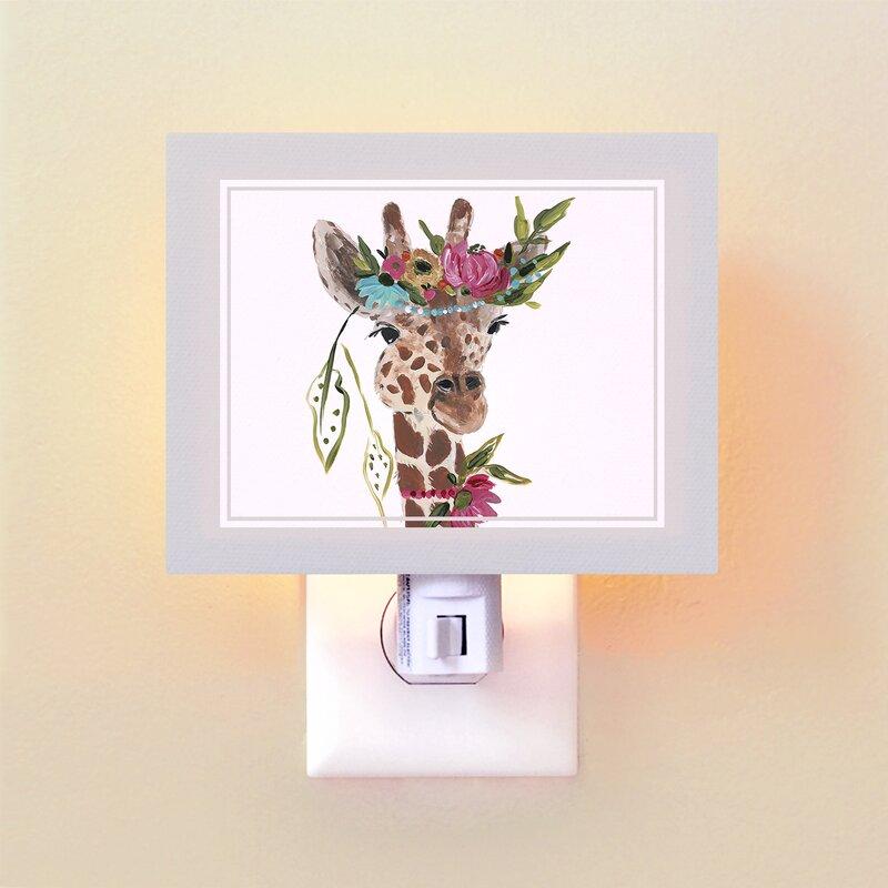 Boho Floral Dream Catcher Children Nursery Table Lamp Night Light Touch Lamp