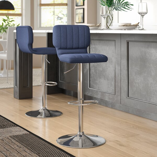 Brilliant Jericho Adjustable Height Swivel Bar Stool Set Of 2 By Gmtry Best Dining Table And Chair Ideas Images Gmtryco