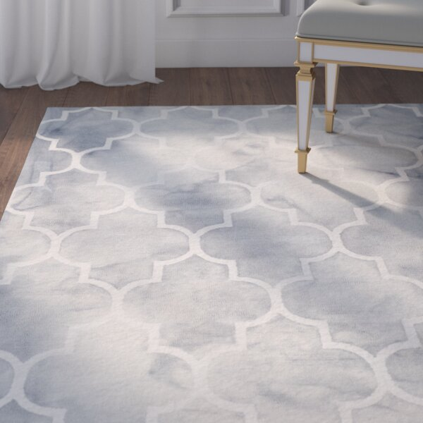 Keaney Hand-Tufted Gray/Ivory Area Rug by Willa Arlo Interiors