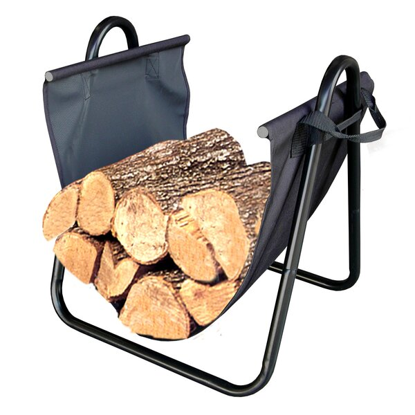 Firewood Log Holder with Canvas Carrier by Landmann
