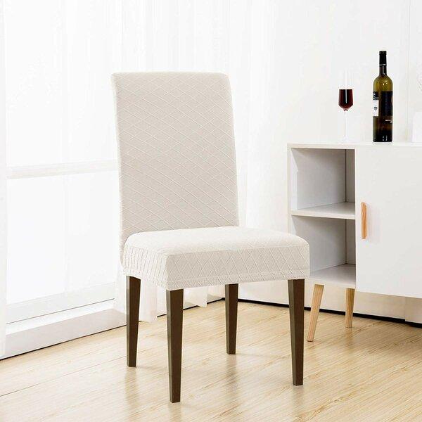 Elegant Rhombus Jacquard Stretchy Universal Box Cushion Dining Chair Slipcover (Set Of 4) By Red Barrel Studio