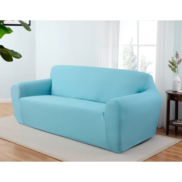 Box Cushion Sofa Slipcover by Latitude Run