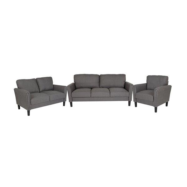 Sours Upholstered 3 Piece Living Room Set by Winston Porter