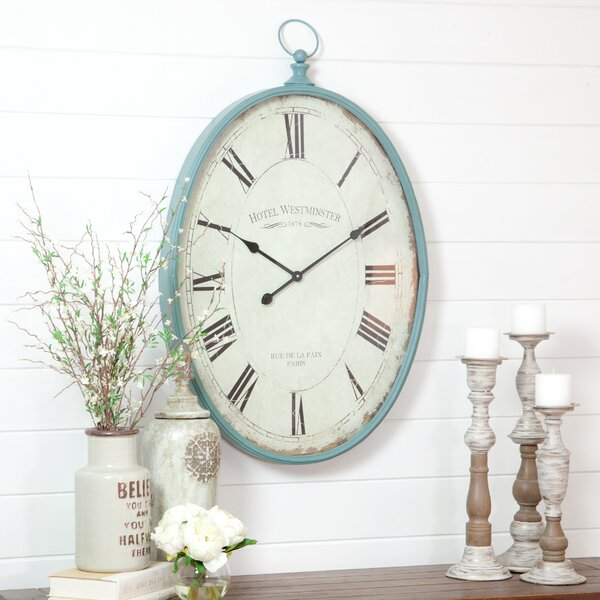 Sonia Oval Wall Clock by Aspire