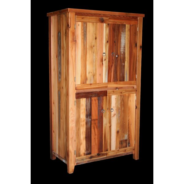 Barnwood 4 Door with Square Legs Armoire by Utah Mountain