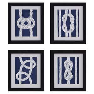 Nautical Ropes 4 Piece Painting Print Set by Breakwater Bay