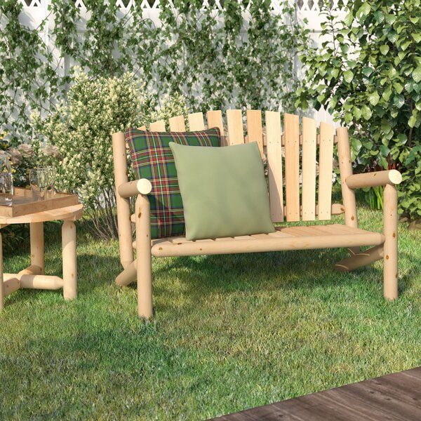 Hooper Settee Wood Garden Bench by Loon Peak