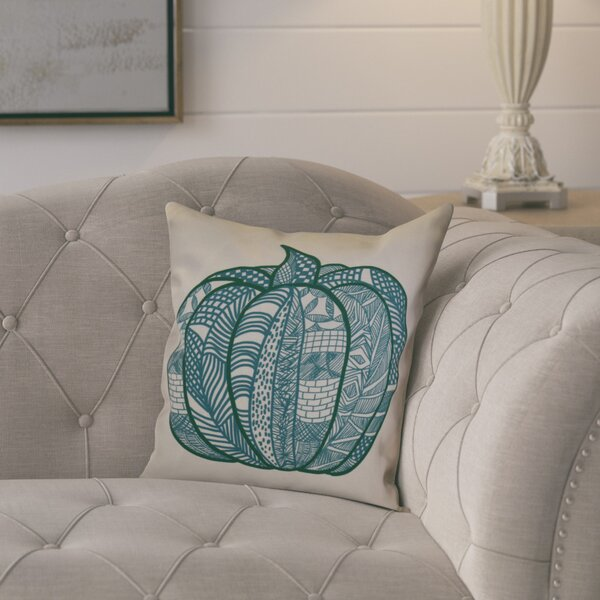 Ames Pumpkin Patch Geometric Throw Pillow by August Grove