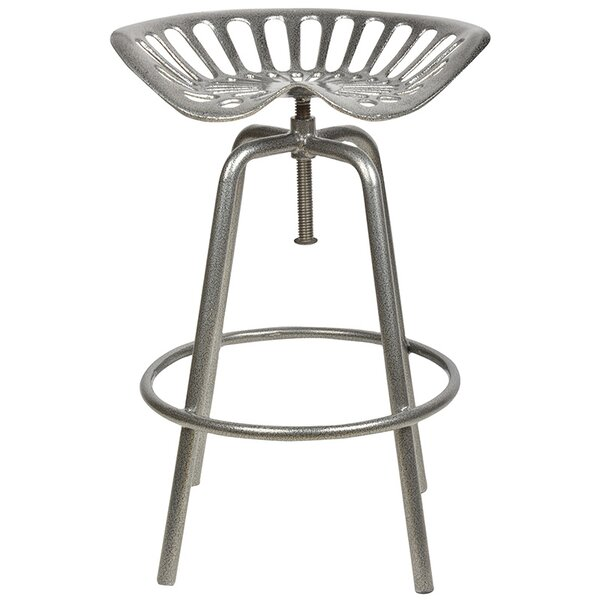Industrial Heritage Adjustable Height Swivel Bar Stool by EsschertDesign