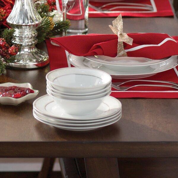 Racconigi Porcelain 24 Piece Dinnerware Set, Service for 4 by Astoria Grand