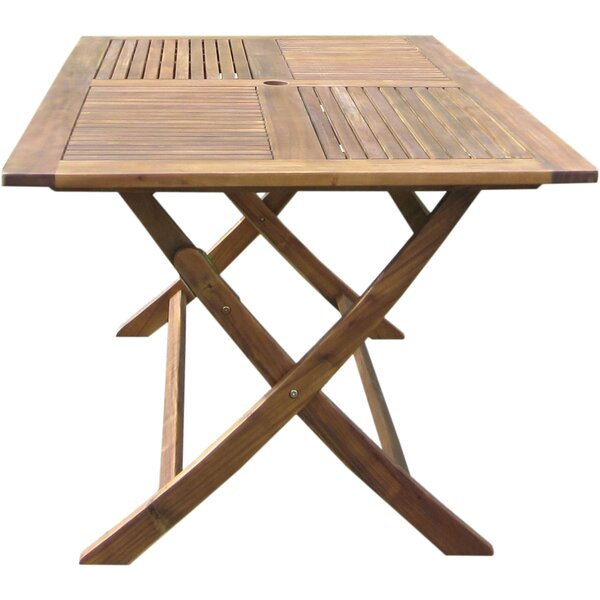 Harmond Folding  Solid Wood Dining Table by August Grove
