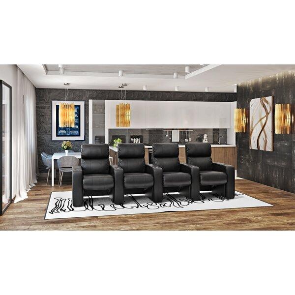 Manual Rocker Recline Home Theater Row Seating (Row Of 4) By Latitude Run