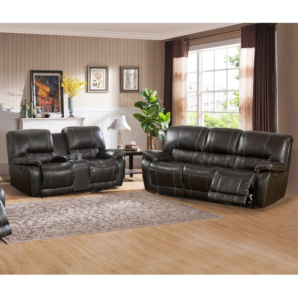 Walborn Reclining 2 Piece Leather Living Room Set  by Canora Grey
