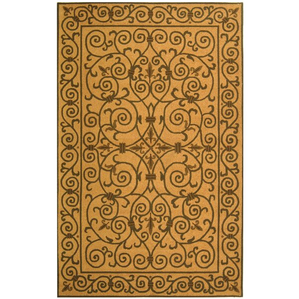 Brayton Yellow/Iron Gate Area Rug by Fleur De Lis Living