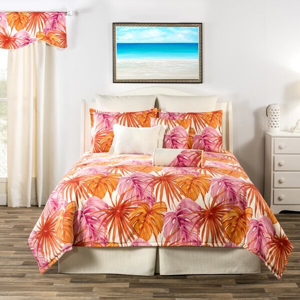 Dority South Beach Tropical Leaves Quilt Set