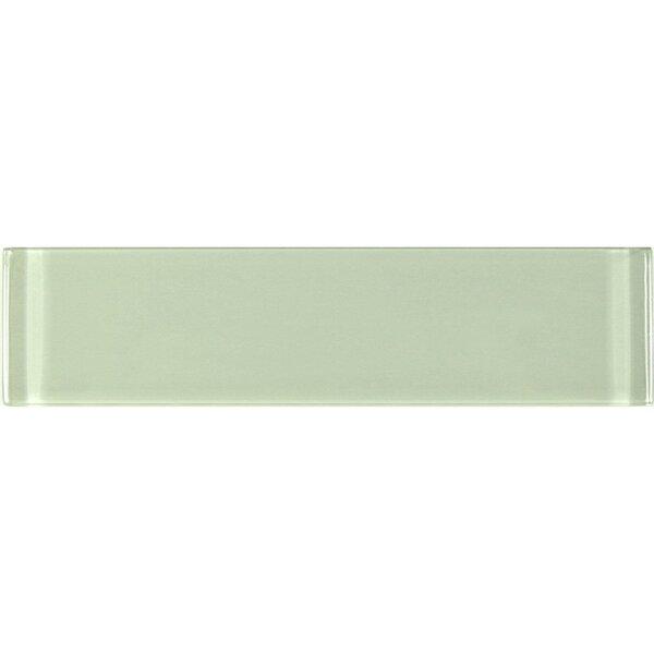 Metro 3 x 12 Glass Field Tile in Celery by Abolos