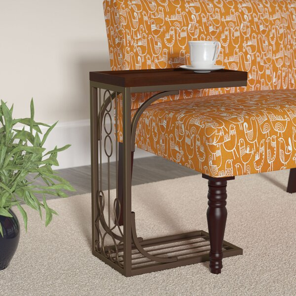 Josephine Tray Top End Table In Brown And Burnished Brown By Darby Home Co