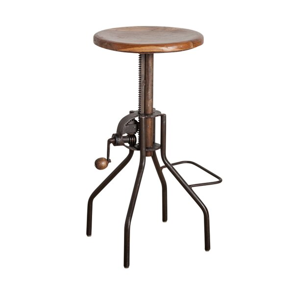 Ilkest Adjustable Height Bar Stool by Williston Forge