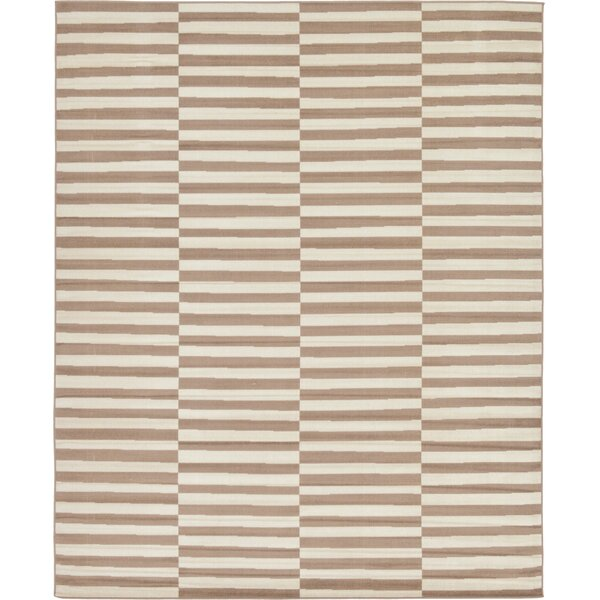 Braxton Light Brown Area Rug by Mercury Row