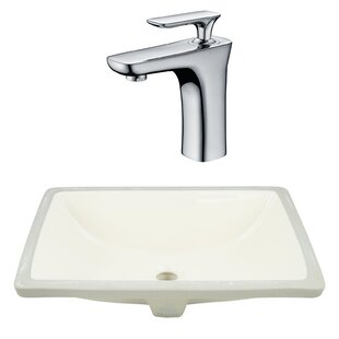 Great choice CSA Ceramic Rectangular Undermount Bathroom Sink with Faucet and Overflow By Royal Purple Bath Kitchen
