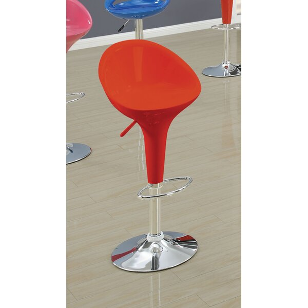 Ryals Contemporary Adjustable Height Swivel Bar Stool (Set of 2) by Orren Ellis