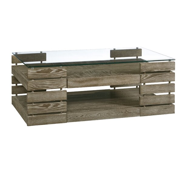 Naccarato Coffee Table with Storage by Williston Forge