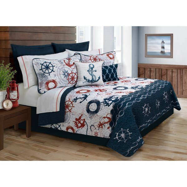 Astra 4 Piece Twin Quilt Set by Beachcrest Home