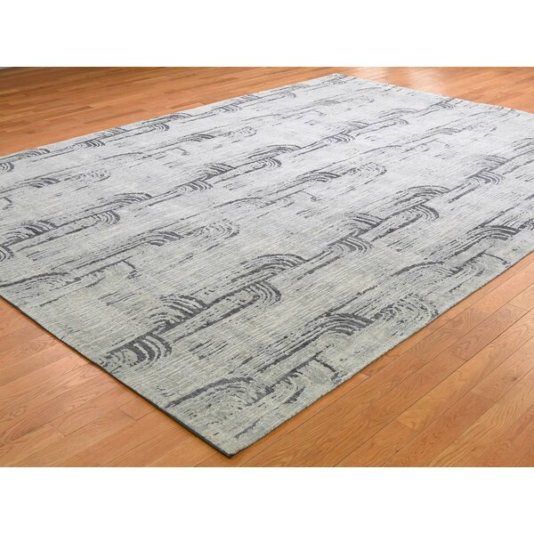 One-of-a-Kind Payson Hand-Knotted Gray 8'9 x 12'2 Area Rug