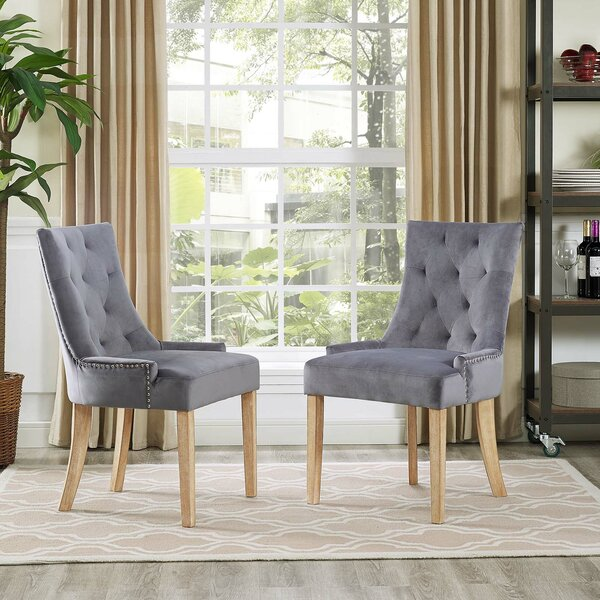 Amazing Mandeville Upholstered Dining Chair (Set Of 2) By House Of Hampton Best Design