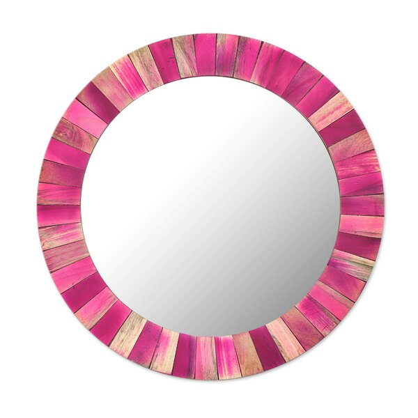 Mccullar Radiance Wood Accent Mirror by Bloomsbury Market