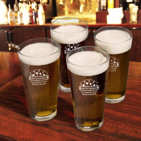 Personalized Gift Sport Pub Beer Glass (Set of 4) by JDS Personalized Gifts