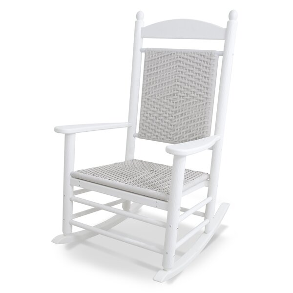 Rocker Jefferson Recycled Plastic Woven Rocking Chair by POLYWOOD®