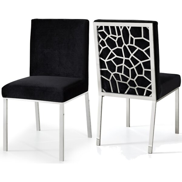 Hop Upholstered Dining Chair (Set of 2) by Everly Quinn