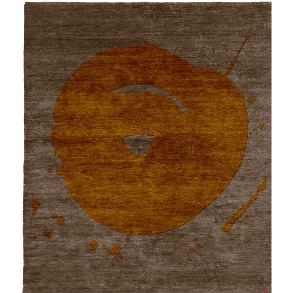 One-of-a-Kind Keana Hand-Knotted Tibetan Brown 10' Round Wool Area Rug