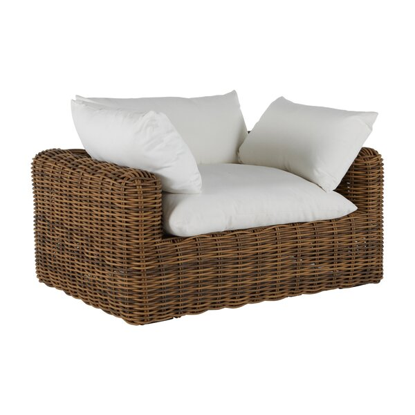 Montecito Woven Patio Chair with Cushions by Summer Classics
